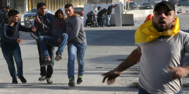 جرحى فلسطينيين في مواجهات مع الجيش الإسرائيلي