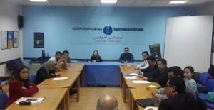 جانب من الاجتماع بين حكومة الشباب وممثلي طلبة الطب في الرباط