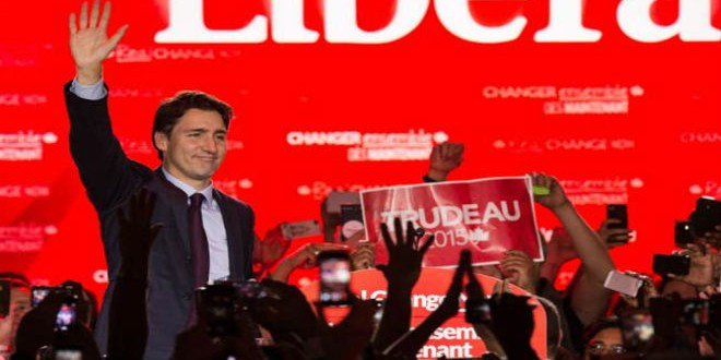 رئيس وزراء كندا الجديد جاستن ترودو