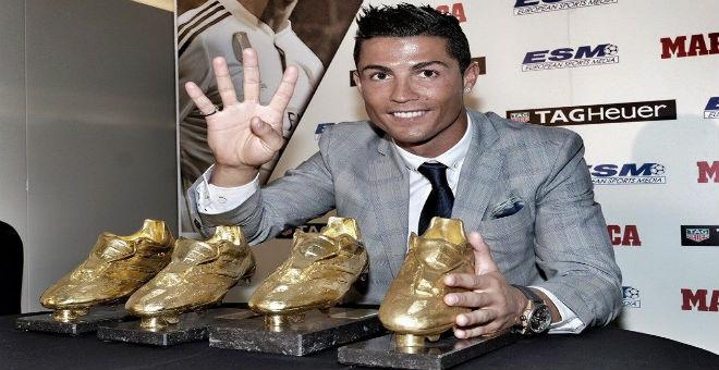 رونالدو يفوز بالحذاء الذهبي للمرة الرابعة