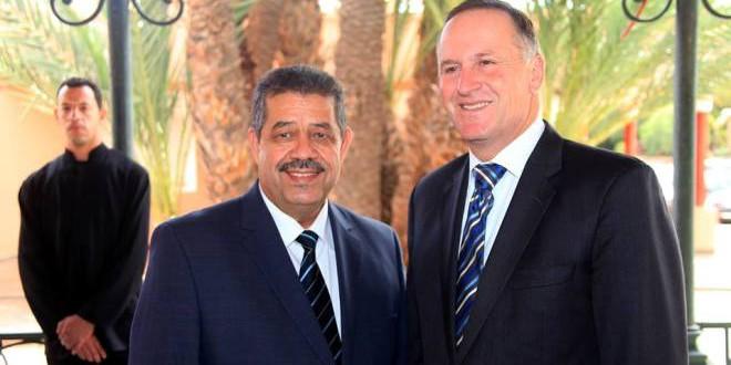 حميد شباط  وجون كاي الوزير الأول النيوزيلاندي.