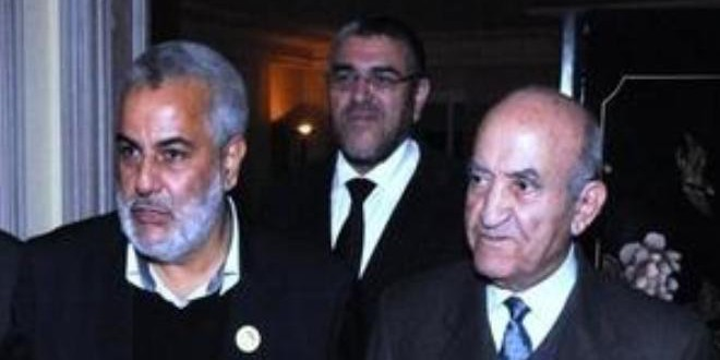 صورة من الأرشيف، ويبدو فيها من اليمين إلى اليسار: عبد الرحمان اليوسفي، ومصطفى الرميد، وعبد الإله بنكيران