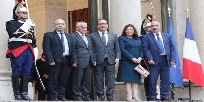 فرانسوا هولاند صحبة الرباعي التونسي
