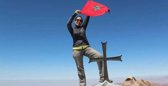 المغربية مريم بورجة اختارت تسلق الجبال لنبذ العنف ونشر السلام ومحاربة السرطان