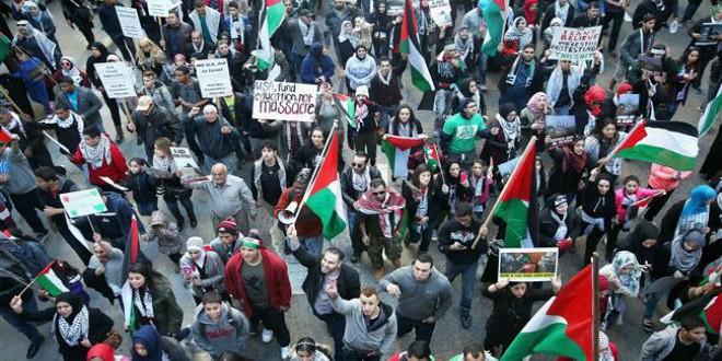 مظاهرات مؤيدة للفسطينيين بنيويورك
