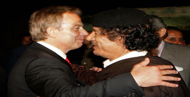 بلير طلب من القذافي مغادرة ليبيا لكي لا يقتل