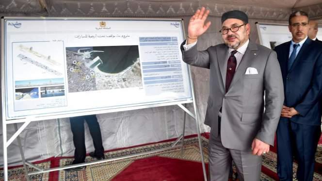 الملك محمد السادس يدشن محطة لمعالجة المياه العادمة بطنجة