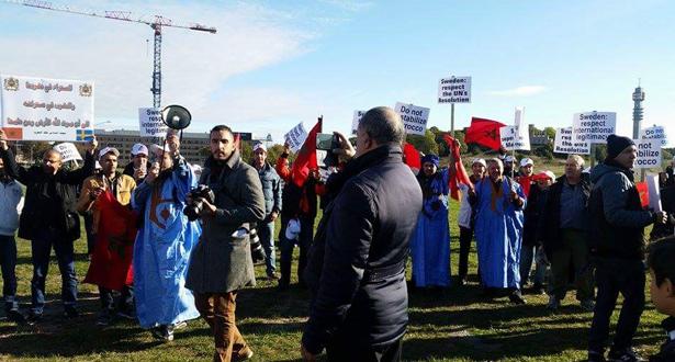 بسبب قضية الصحراء.. الجالية المغربية السويدية تحتج في قلب ستوكهولم