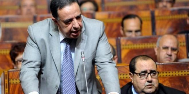 الراحل أحمد الزايدي في البرلمان، ويبدو في الصورة ادريس لشكر الكاتب الأول للاتحاد الاشتراكي