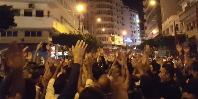من مسيرات الشموع ضد شركة امانديس في طنجة