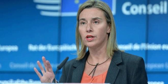 الممثلة السامية للاتحاد الأوروبي للشؤون الخارجية والأمن، ونائبة رئيس المفوضية الأوروبية فيديريكا موغريني