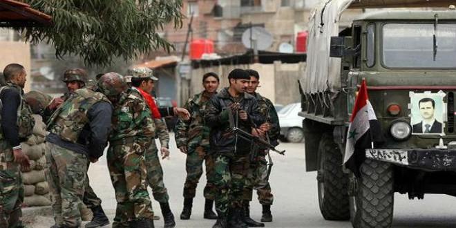 جانب من قوات النظام السوري