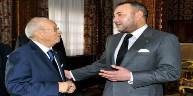 الملك محمد السادس والرئيس التونسي الباجي قايد السبسي