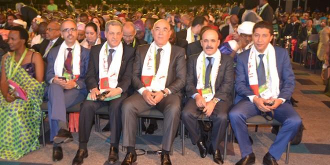 الوفد المغربي في مقدمة الحاضرين في مؤتمر جوهانسبورغ
