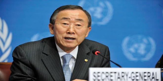 الأمين العام للأمم المتحدة بان كي مون