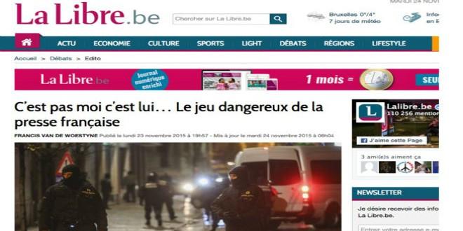تراشق إعلامي فرنسي بلجيكي بعد هجمات باريس