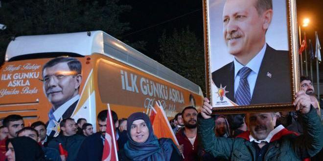 فرحة عارمة في تركيا وسط أنصار العدالة والتنمية بعد ظهور نتائج الانتخابات