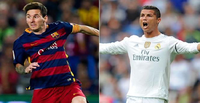 رونالدو وميسي متساويان في عدد الأهداف خلال 2015 !