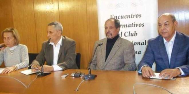 جانب من لقاء مدريد الذي شارك فيه محمد عبد العزيز المراكشي