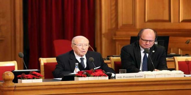 كلمة الرئيس التونسي الباجي قايد السبسي أمام البرلمان السويدي