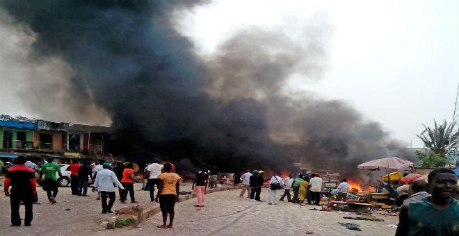 طفلة انتحارية تودي بحياة 15 شخصا في نيجيريا