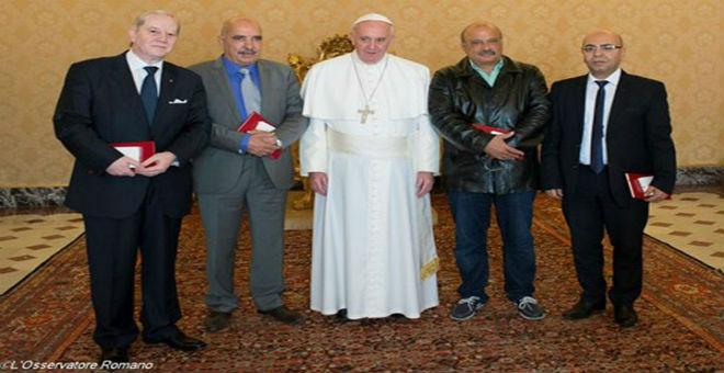 البابا فرانسيس يستقبل الرباعي التونسي في الفاتيكان