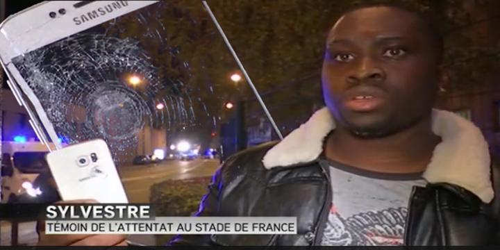 بالفيديو : هاتف سامسونج ينقذ حياة رجل في تفجيرات باريس