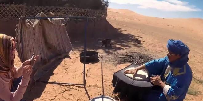 بالفيديو..طريقة تحضير الخبز الصحراوي