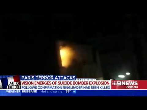 صادم..لحظة تفجير الانتحارية نفسها في شقة باريس