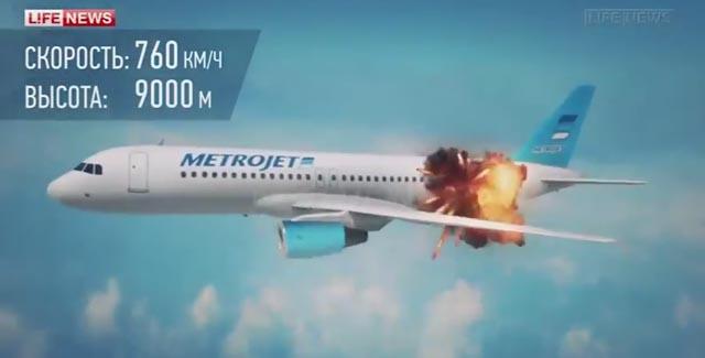 شاهد: أول فيديو يوضح طريقة تفجير الطائرة الروسية المنكوبة بسيناء