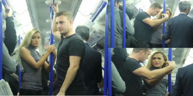 شاهد امرأة تعرضت للتحرش في حافلة بـ لندن
