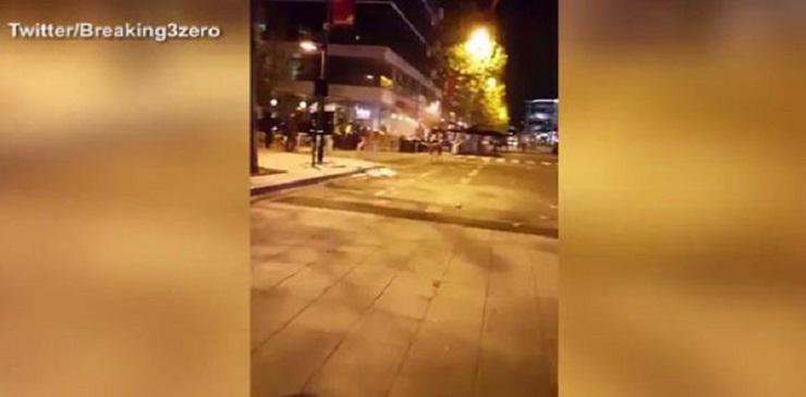 أول فيديو لآثار الانفجار الذي وقع بمطعم بجوار ستاد دو فرانس