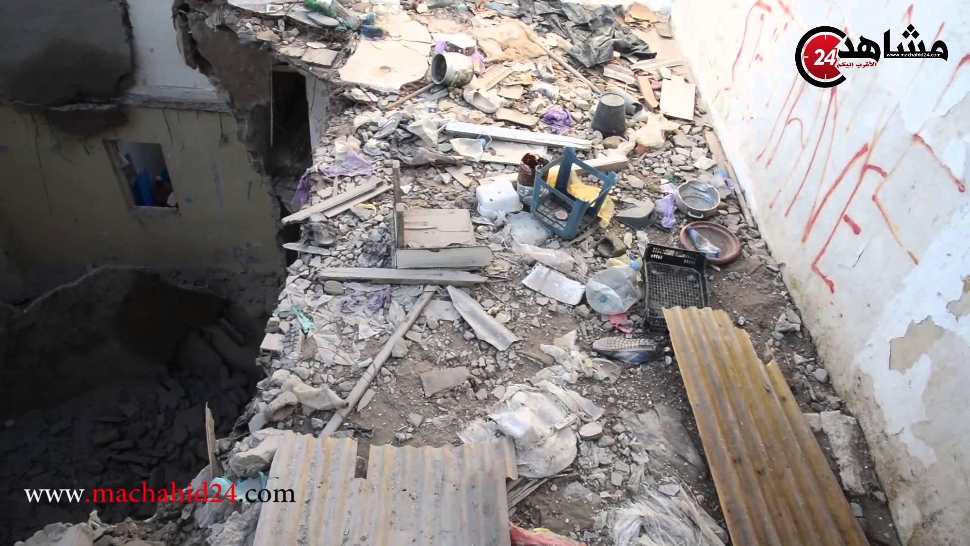 بالفيديو..منازل المدينة القديمة بالدارالبيضاء تواصل سقوطها