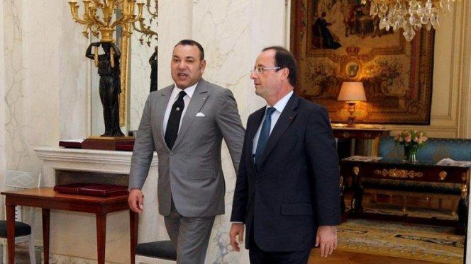 بالفيديو. الملك محمد السادس يلتقي هولاند بالإيليزيه