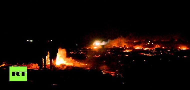 فيديو: إحراق مخيم يقطنه 6000 لاجئ في باريس