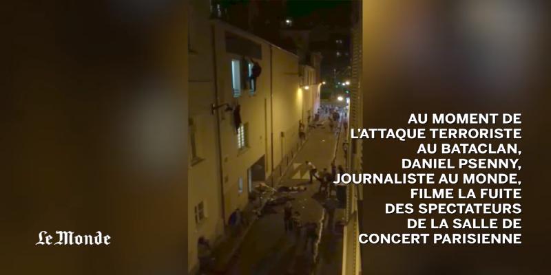 فيديو: صحافي يصور لحظة وقوع مجزرة المسرح في باريس