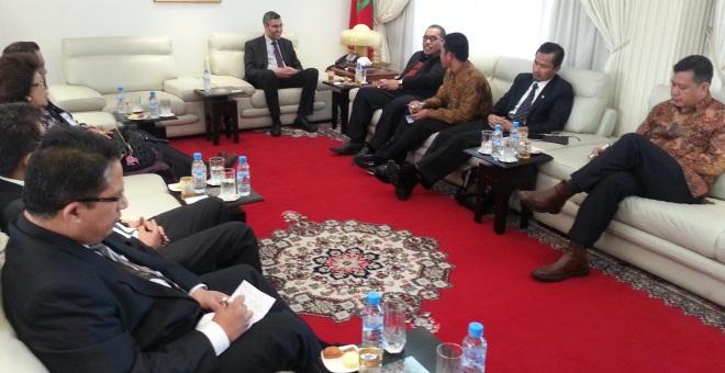 وفد برلماني أندونيسي  يطلع على مراحل التجربة الديمقراطية في المغرب