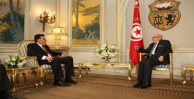 السبسي يستقبل رئيس حكومة الوفاق الليبية