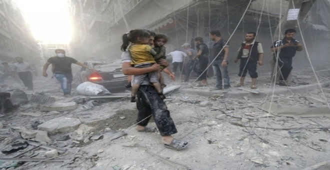 سوريا..نزوح جماعي باتجاه الحدود التركية هربا من القصف الروسي