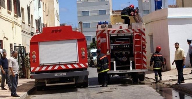 اندلاع حريق بمحل لبيع العقاقير في مدينة الرباط