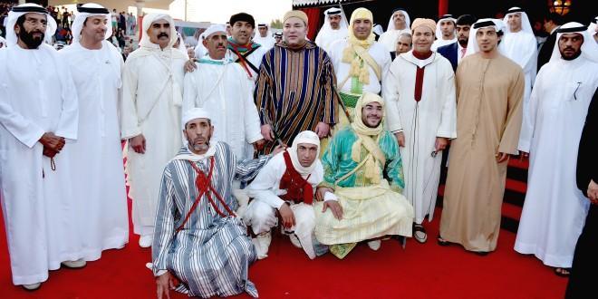 الملك في أبو ظبي