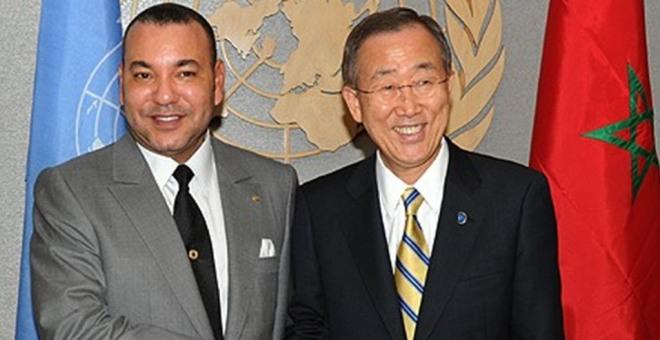 بان كي مون يشكر الملك  بعد توقيع الاتفاق بين الأطراف الليبية