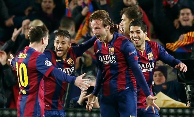 برشلونة يسحق الأرسنال بثلاثية الmsn