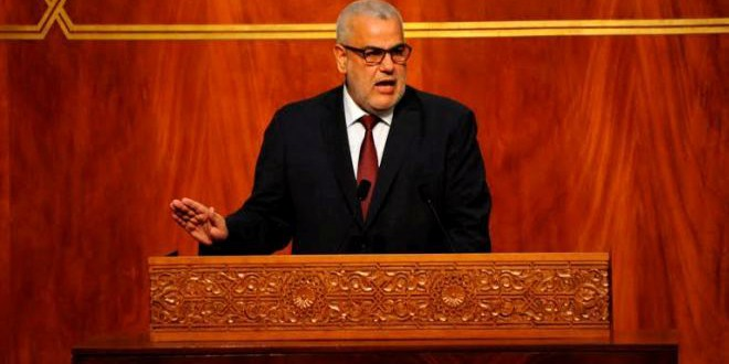 السيد عبد الإله بنكيران، رئيس الحكومة في البرلمان