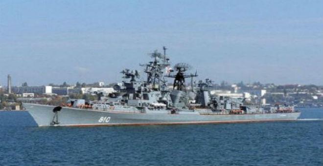 مدمرة روسية تطلق النار على سفينة تركية ببحر إيجة
