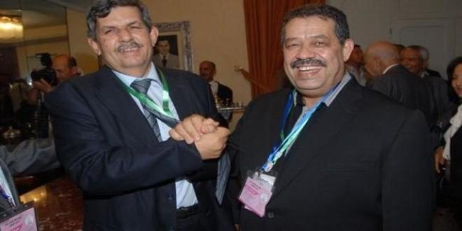حميد شباط وعبد الواحد الفاسي خلال المؤتمر الأخير للحزب