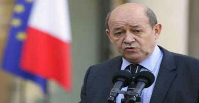 لودريان يعلن استعداد فرنسا لدعم ليبيا لتأمين حدودها البحرية