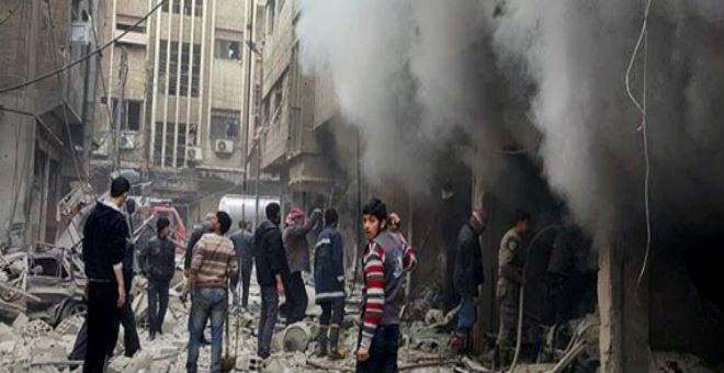 سوريا..مصرع 34 مدنياً بغارات