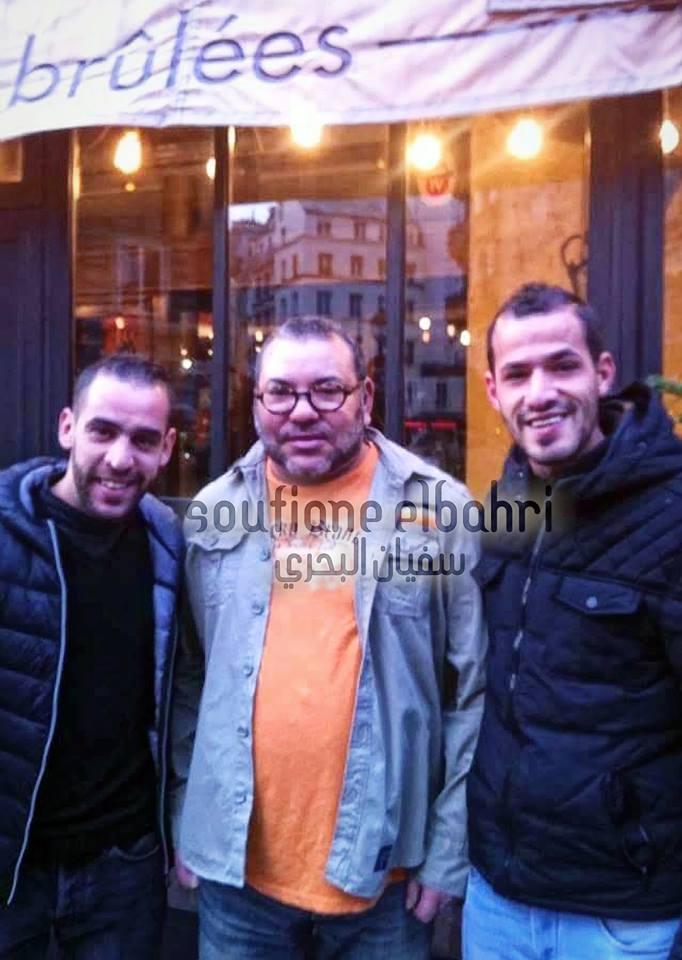 صورة. الملك محمد السادس مع مغاربة باريس بدون بروتوكول