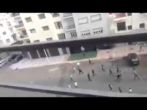 بالفيديو: أحداث شغب خطيرة بعد الديربي